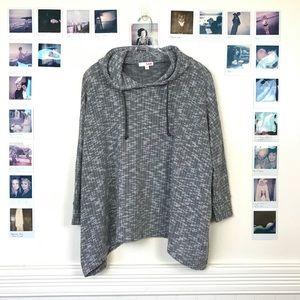 LNA Hooded Dolman Sleeve Sweater Drawstring Hoodie